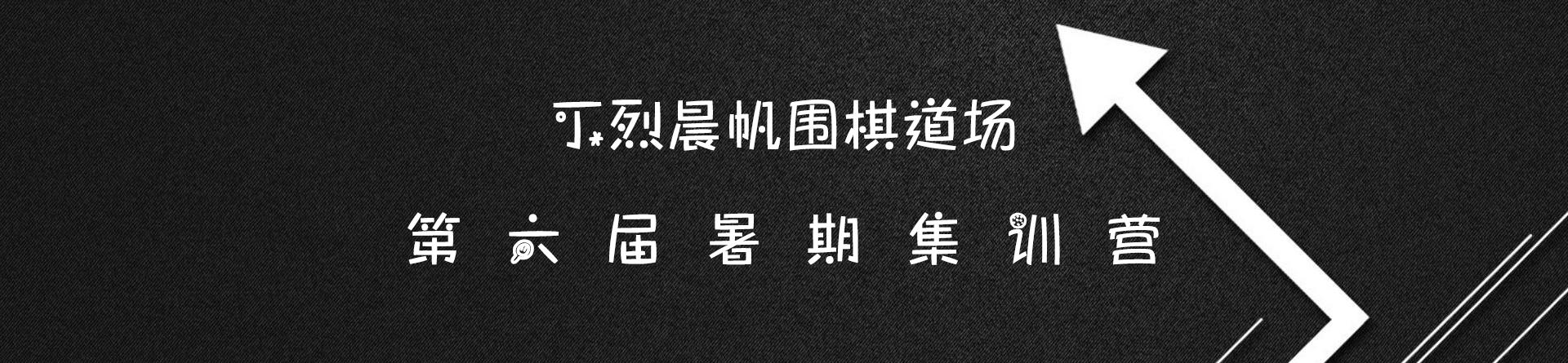 丁烈晨帆围棋道场第六届暑期集训营