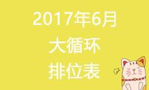 2017年道场6月大循环第13轮排位表
